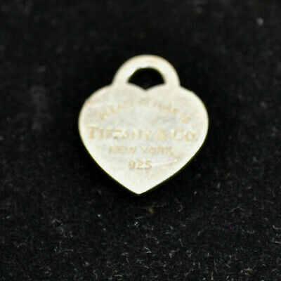 Tiffany & Co. Sterling Silver 925 Please Return to Tiffany Heart Tag Pendant