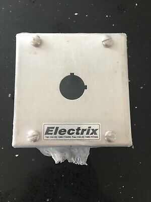 "Electrix 1 hole single stainless steel push button enclosure box 100mm 4"" satin"