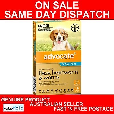 Advocate for Medium Dogs Aqua Blue 4-10kg 6 Pack