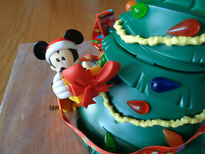 NEW DISNEY PARKS Lighted Mickey Mouse Merry Christmas Tree Popcorn Bucket 2019