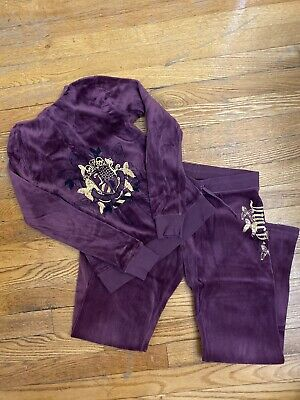 Juicy Couture Girls Tracksuit Sz 7 8