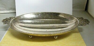 TIFFANY & CO FOOTED BOWL  Vine Handles Sterling Silver Melon  22974 273 GRAMS