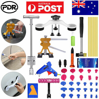 Paintless Dent Removal Puller Lifter PDR Tools Slide Hammer Tap Glue Gun Repair