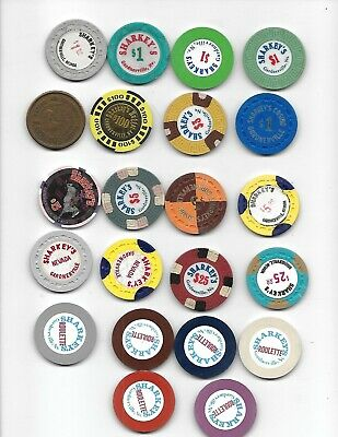 22 - Original Sharkey,S Casino Chip Collection Gardnerville Nevada