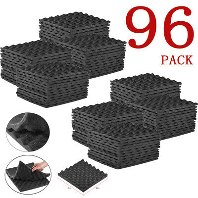 """96 PACK Acoustic Foam Panel Egg Crate Studio Soundproofing Wall Tiles 12"""" X 12"""""""