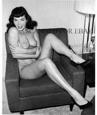 Betty Page model nude girl print busty woman female leggy photo picture legs CT2