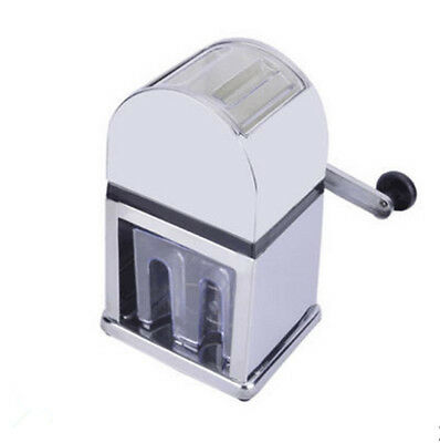 New Cranked Snow Cone Machine Ice Shaver Shaving Crusher Snow Cone Maker