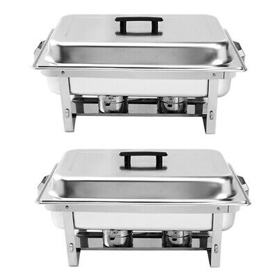 Set of 1 2 4 Buffet Server Hot Plate Food Warmer Tray Pan Container Catering UK