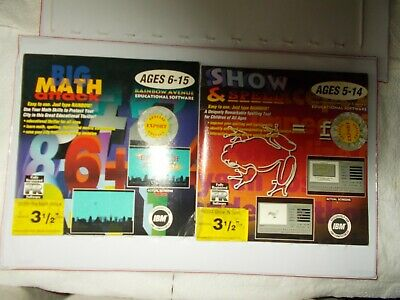 3 1/2 Disks Big Math Attack Ages 6-15 & Show & Spell Ages 5-14 Educ.software