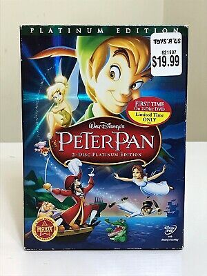 DISNEY Peter Pan DVD 2007 2-Disc Set Platinum Edition With Slipcover NEVER USED