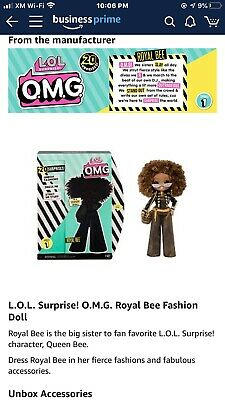 Lol Surprise Omg Fashion Doll Royal Bee 🐝 In Hand Ship Immediately New Release