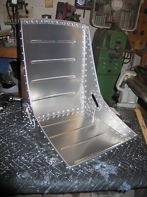 Single WWII style aircraft bomber seat, belt slots, Solid Rivets! Vintage.