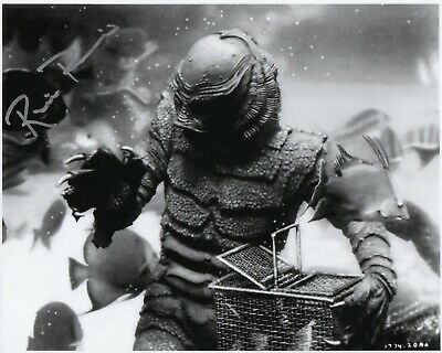 CREATURE FROM THE BLACK LAGOON personally signed 10x8 RICOU BROWNING as Gill man