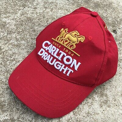 """CARLTON DRAUGHT """"Red"""" Collectable Alcohol Brand Adults Baseball Cap Hat"""