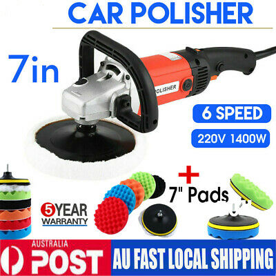 Electric Car Polisher Buffer Sander MPT PRO 6 Speed 180mm Polishing & Buff Pad
