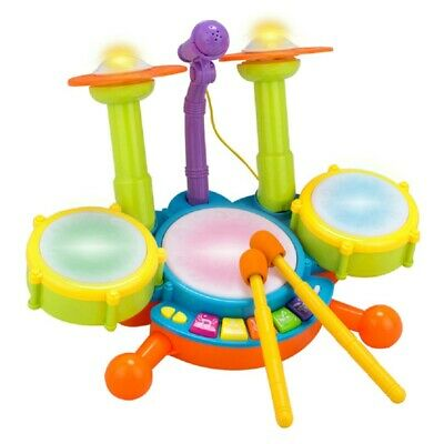Children Kids Musical Microphone Drum Kit Set Instrument Toypuzzle Early EdK2S8