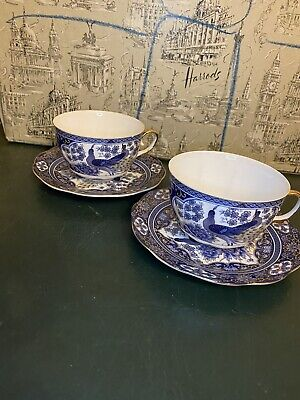 CHINESE CHINA  2 Tea CUPs & 2 Saucers
