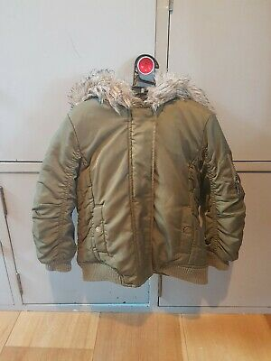 Girls Next Khaki Coat Aged 2-3years