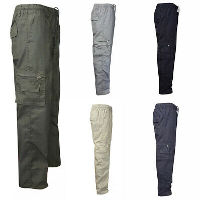 Mens Combat Cargo Work Trousers Military Army Pocket Casual Slim Bottoms Pants
