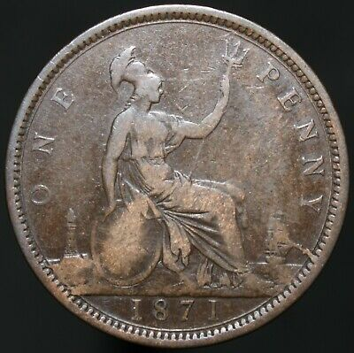 1871 | Victoria One Penny | Bronze | Coins | KM Coins
