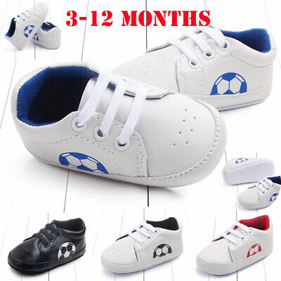 Newborn Infant Baby Shoes Anti-slip Football Soft Sole Toddler Kid Shoes Sneaker