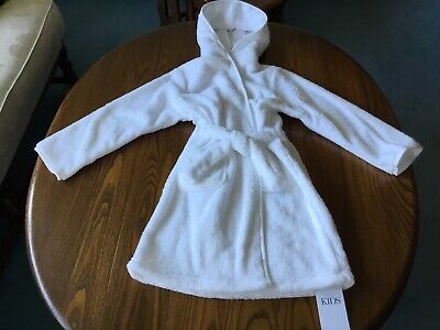 Marks And Spencer Girls White Sparkle Dressing Gown Age 4 - 5 Years