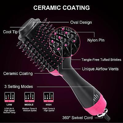 One Step Hair Dryer and Volumizer, 2-In-1 Styler and Dryer Hot-Air Brush #AZG