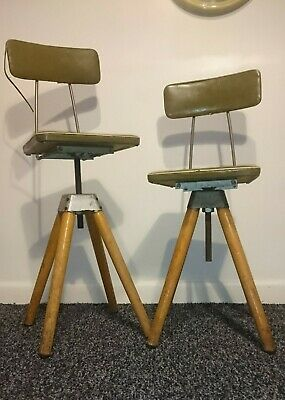 Vintage Machinists Adjustable Factory Chair / Stool - Industrial stools