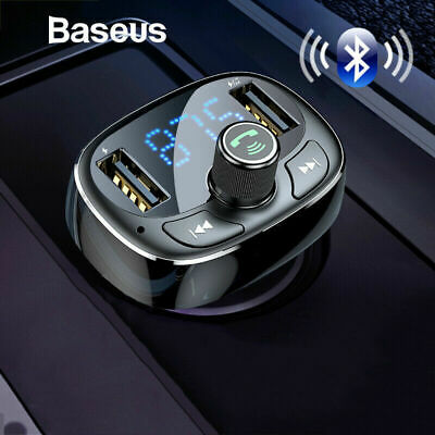 Baseus Handsfree Wireless Bluetooth USB Car Charger FM Transmitter MP3 Player