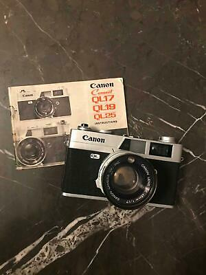 Canonet QL17 35mm Rangefinder Film Camera [Nice Working Order]