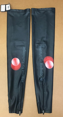 Fleece backed lycra D2D Cycling Arm Warmers Black Thermal
