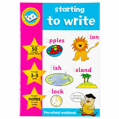 Key Stage Sticker Work Books Starting to Write - Children Educational Book