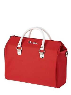 Silver Cross Dolls Pram Changing Bag - Poppy Red With Fixing Straps