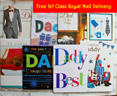 Dad Daddy Happy Birthday Greetings Cards - Best Wishes Thoughtful Greeting Card