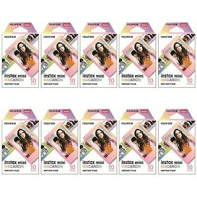 10 Packs 100 Photos Macaron FujiFilm Fuji Instax Mini Film Polaroid SP-2 Liplay