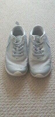 Silver Nike Air Max Thea Size Child 12 Girls