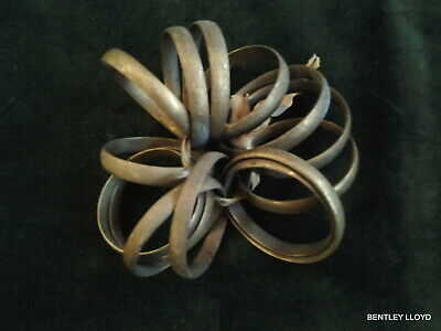 Bundle Of Fourteen Antique French Brass Curtain Rings