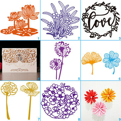 Flower Lace Cutting Dies Metal Stencil DIY Scrapbook Album Paper Card Love Art