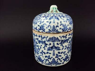 Rare IMPRESSIVE Chinese Porcelain Antique Nyonya Straits Jar Cup Cover, Marked