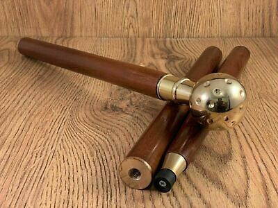 Solid Brass Antique Wooden Handmade Vintage Victorian Walking Stick Cane Gift