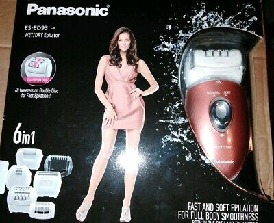 Panasonic Es-Ed93 Wet/Dry Cordless Epilator & Foot Care  6 In 1 Free Post!
