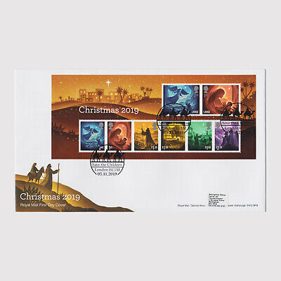 2019 Christmas Miniature Sheet First Day Cover (FDC) - London Postmark