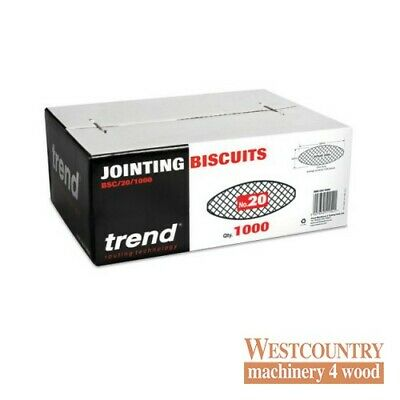 TREND BSC/20/1000 BISCUITS for Biscuit Jointer Size 20 box of 1000