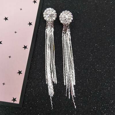 2019 Woman Crystal Rhinestone Long Tassel Dangle Earrings Bride Jewelry Useful