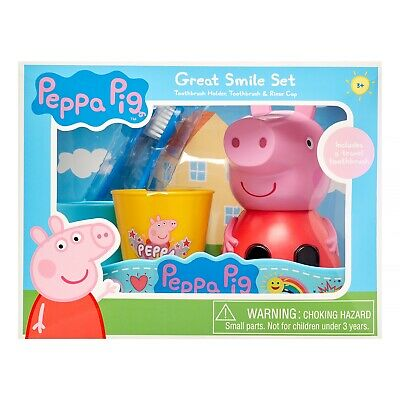 Pepa Pig Toothbrush Holder, Toothbrush And Rinse Cup