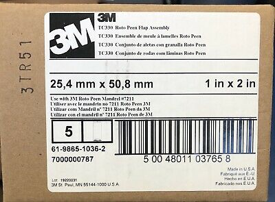 3M TC330 Roto Peen Flap Assembly 048011-03760 (5 Pack) ; FREE Same Day Shipping!