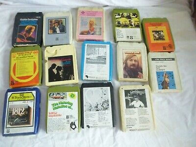8 track tapes x 14