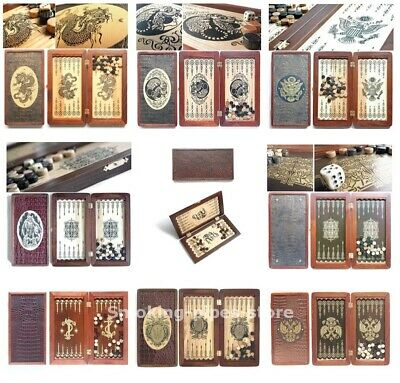 10 TRAVEL Portable Wood BACKGAMMON Board Game CHRISTMAS GIFT Small Light Compact