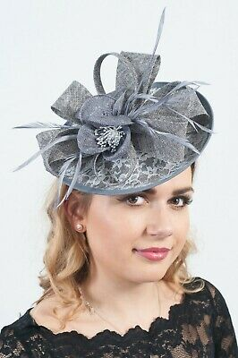 Ladies Headpiece Sinamay Fascinator Hatinators Race Day Wedding Guest RRP £45
