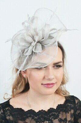 Grey Ladies Fascinator Headpiece Fascinators Race Day Hats Hatinator RRP£65